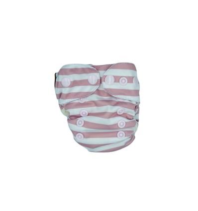 Bee3, AIO Paski biało-różowe, rozmiar newborn